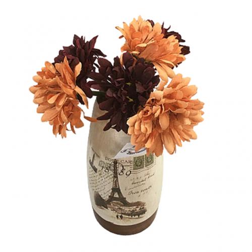 Buchet crizanteme artificiale Orange Tracy 25cm