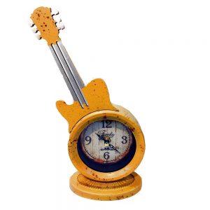 Ceas galben chitara metal Guitar Art vintage cifre arabe