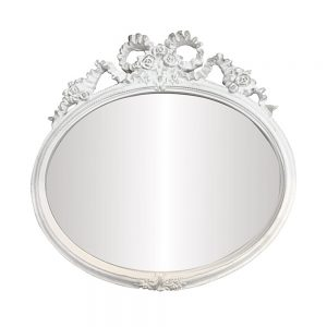 Oglinda vintage perete Magic Mirror alb-antichizat 29x28cm