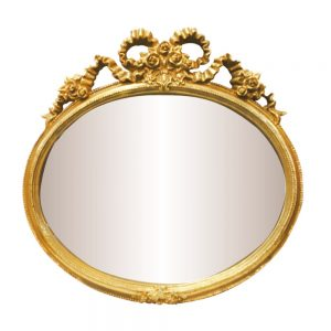Oglinda vintage perete Magic Mirror auriu-antichizat 29x28cm