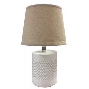 Veioza alba Henry ceramica lampa retro