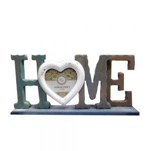 Rama foto 3D Home lemn vintage 40x10x18cm
