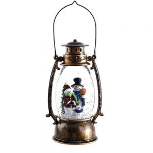 Felinar Magic Christmas vintage glob luminos Craciun 11x25cm