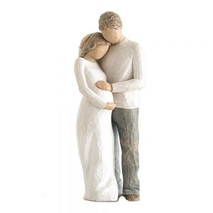 Figurina decorativa cuplu Pregnancy 22cm statueta rasina