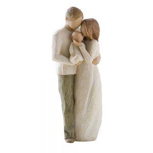 Figurina decorativa familie New Life 22cm statueta rasina