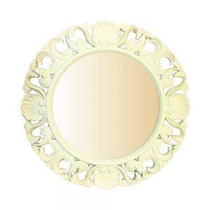 Oglinda mireasa Romantic Ivory rotunda retro