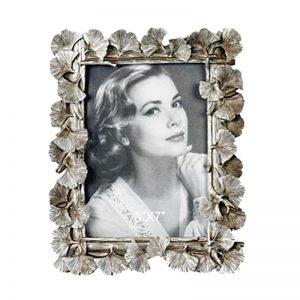 Rama foto frunze vintage Grace argintiu rasina 10x15cm cadou elegant