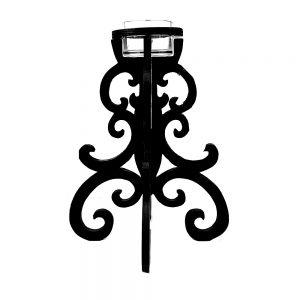 Sfesnic lemn negru Baroque 23x13cm decoratiune vintage