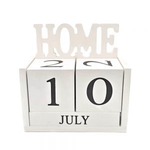 Calendar lemn Gregory Home alb retro