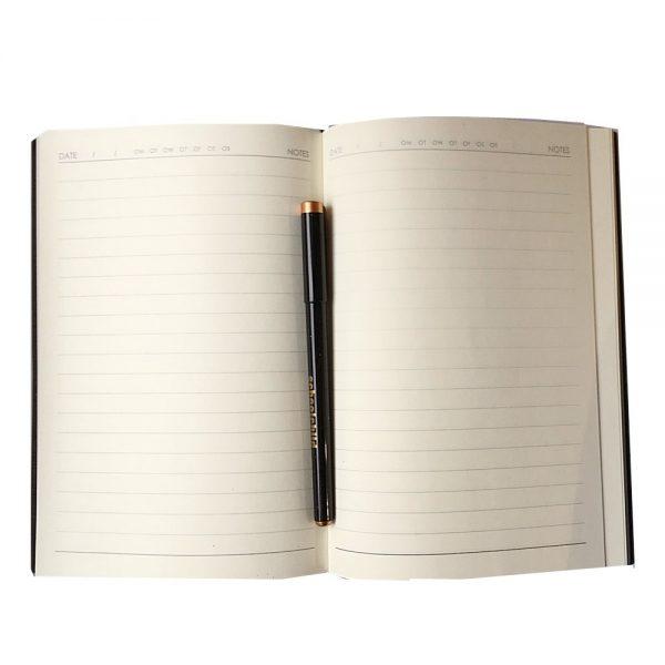 Agenda eleganta notebook business Michael 15.5x21cm piele nedatat