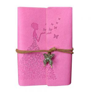 Agenda vintage roz Diana 10x14cm