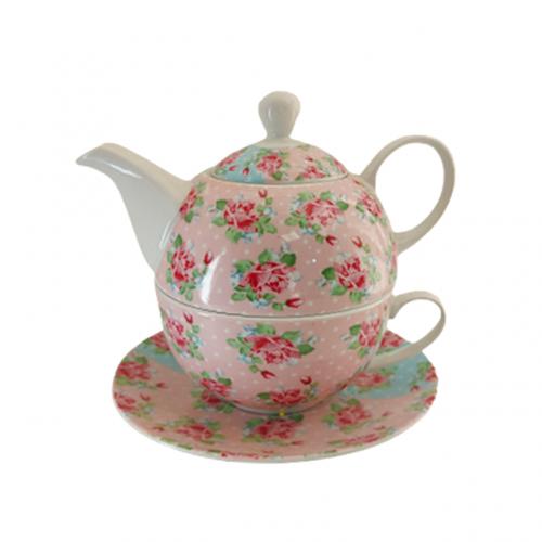 Set ceai Valerie 3 piese portelan
