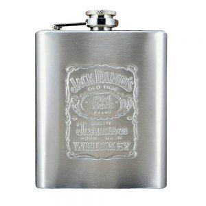 Sticla de buzunar Jack argintiu butelcuta inox cadou aniversare