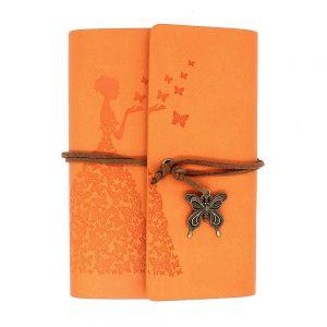 Agenda vintage portocalie Diana 13x18cm