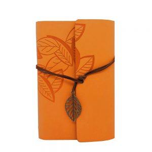 Agenda vintage portocalie Frankie 13x18cm