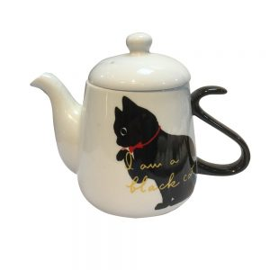 Ceainic pisica Black Shady 350ml ceramica