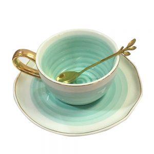 Ceasca de cafea cu farfurie Sofia portelan cadou elegant