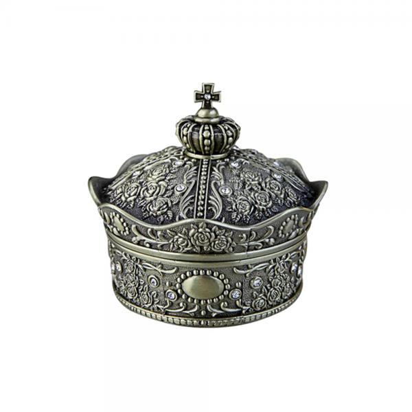Cutie bijuterii coroana vintage Queen 5.5x5.5cm