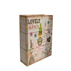 Cutie carte Lovely Alpaca vintage 19x7x26cm