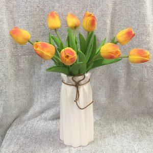 Lalele galben-portocaliu artificiale Tulipe 34cm