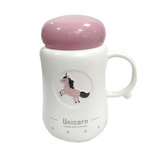 Termos alb Unicorn ceramica 350ml