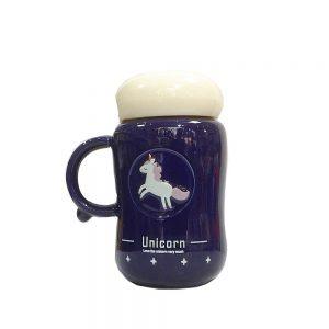 Termos mov Unicorn ceramica 350ml
