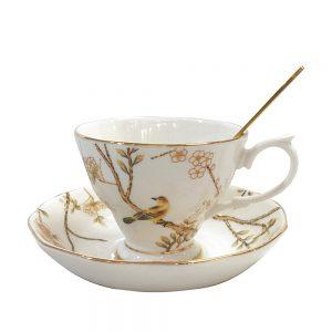 Ceasca de cafea cu farfurie Blanche portelan