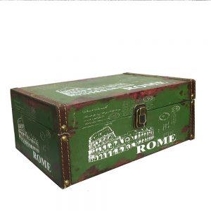 Cufar lemn vintage Rome valiza retro