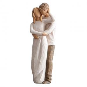 Statueta cuplu indragostiti Caress rasina 22cm
