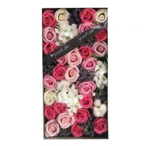 Aranjament roz flori de sapun Claire