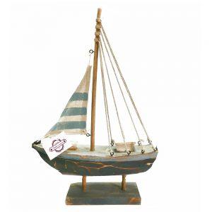 Barca lemn cu panze Magellan 24x6x34cm