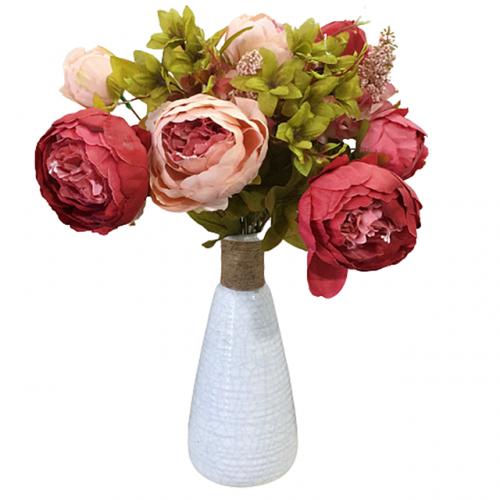 Buchet bujori artificiali roz Maroon Berenice