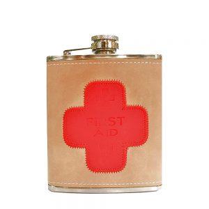 Butelcuta inox First Aid sticla buzunar