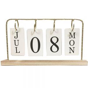Calendar birou Bright Days vintage lemn