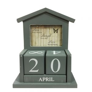 Calendar lemn vintage Ernest rama foto