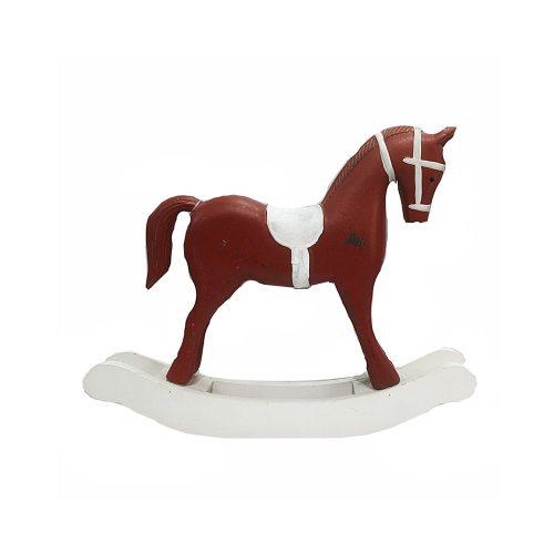 Calut lemn Red Rocking Horse 14x10cm