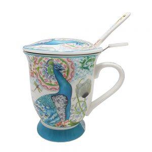 Cana ceai cu infuzor Peaky paun
