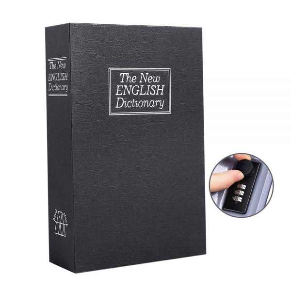 Carte seif English Booksafe metal 11x18cm