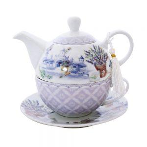 Ceainic lavanda Arlene portelan set ceai