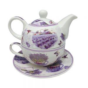 Ceainic lavanda Janine portelan set ceai