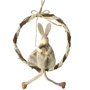 Coronita nuiele cu iepuras textil Bunny