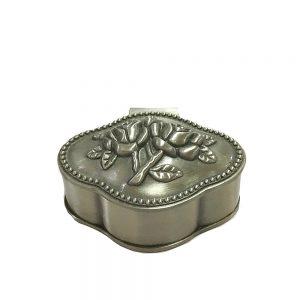Cutie bijuterii vintage Celine 5x2cm caseta inel logodna