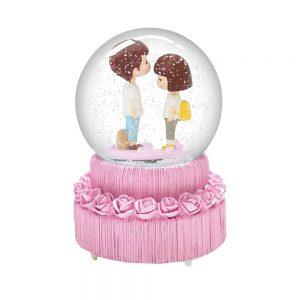 Glob muzical din sticla Love 15cm