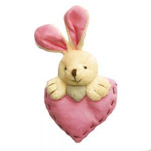 Iepure plush Easter Bunny multicolor 14cm