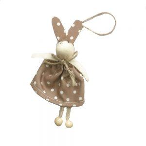 Iepure textil Easter Bunny bej 14cm