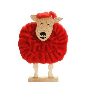 Oaie decorativa Ramsey lana si lemn