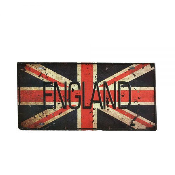 Placa metal vintage England numar auto