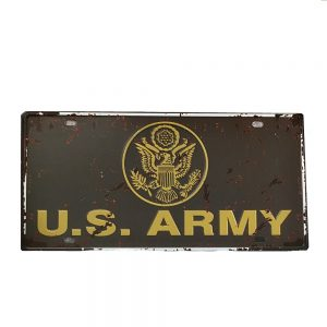 Placa metal vintage USArmy numar auto