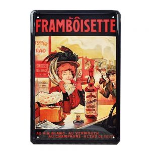 Placa metalica La Framboisette poster vintage