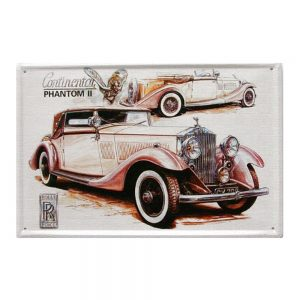Placa metalica Phantom poster vintage